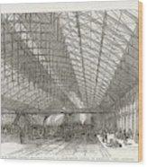 Passengers Await Their Train Wood Print