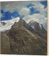 Peaks In The Rockies Wood Print