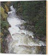 Pemigewasset River Franconia Notch Wood Print