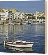 Port Vendres Harbour France 1980s Wood Print