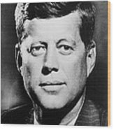 Portrait Of John F. Kennedy  Wood Print by American Photographer