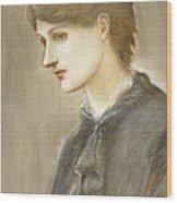 Portrait Of Mrs William J Stillman Nee Marie Spartali Wood Print