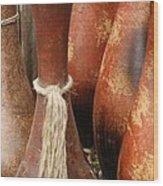 Pottery Jugs Wood Print