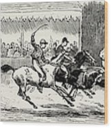 Prince Winning The Half-mile Pony Race For The Prince Wood Print