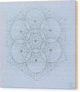 Quantum Snowflake Wood Print