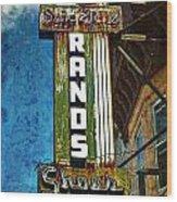 Rands Wood Print by Wayne Gill