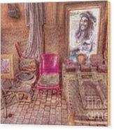 Rasta King At Marakech Wood Print by George Paris