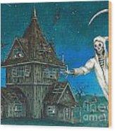 Reaper At Midnight Wood Print