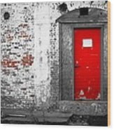 Red Door Perception Wood Print