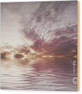 Reflection Of Mauve Skies Wood Print