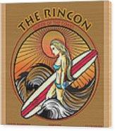 Rincon Ventura California Surfing Wood Print by Larry Butterworth
