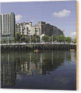 River Nervion Panorama Wood Print