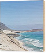 Road And Beaches Of Sao Vicente Cape Verde Wood Print