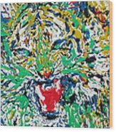 Roaring Enamel Tiger Wood Print