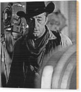 Robert Mitchum Lights Young Billy Young Set  Old Tucson Wood Print