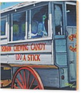 Roman Candy Guy At Jazz Fest Wood Print