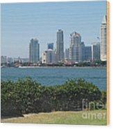San Diego Viewed From Coronado Island Wood Print