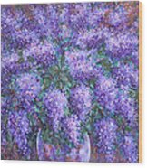 Scented Lilacs Bouquet Wood Print