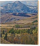 Sierras Mountains Wood Print