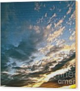 Sky Sings Wood Print by Q's House of Art ArtandFinePhotography