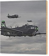 Skyraiders - Va155 Wood Print