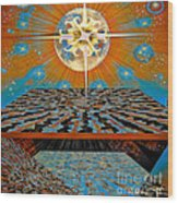 Solar Energy Wood Print