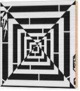 Spin Art Off Set Targeting Maze  Wood Print