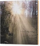 Sunrise Of Faith Wood Print
