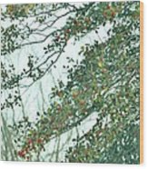 Spring Drops Wood Print
