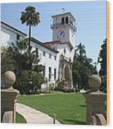 Santa Barbara Courthouse Wood Print