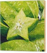 Star Fruit Carambola Wood Print