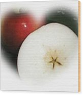 Star In The Apple Wood Print