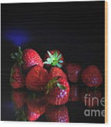 Still Life With Strawberries Wood Print