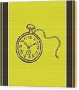 Stop Clock Wood Print