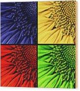 Sunflower Medley Wood Print
