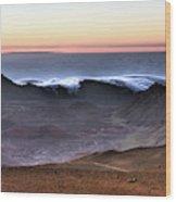 Sunrise At Haleakala Crater, Maui Wood Print