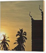 Sunset In The Tempel Wood Print