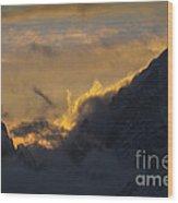 Sunset Peaks Wood Print