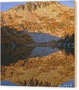 Switchback Peak On Cooney Lake Wood Print