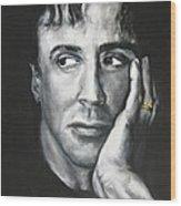 Sylvester Stallone Wood Print
