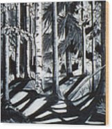 Take The Maine Path Wood Print