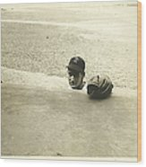 Ted Williams Wood Print by Diane Diederich