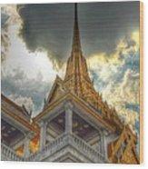 Temple Roof Wood Print