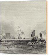 The British Fleet Forces A  Passage Wood Print