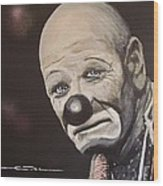 The Clown Wood Print