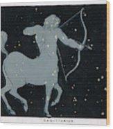 The Constellation Of  Sagittarius Wood Print