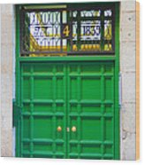 The Doors Of Madrid Spain Xii Wood Print