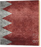 The Flag Of The Kingdom Of Bahrain Vintage Version Wood Print