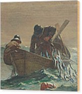 The Herring Net Wood Print