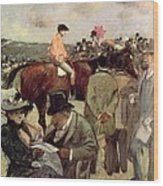 The Horse Race Wood Print by Jean Louis Forain
